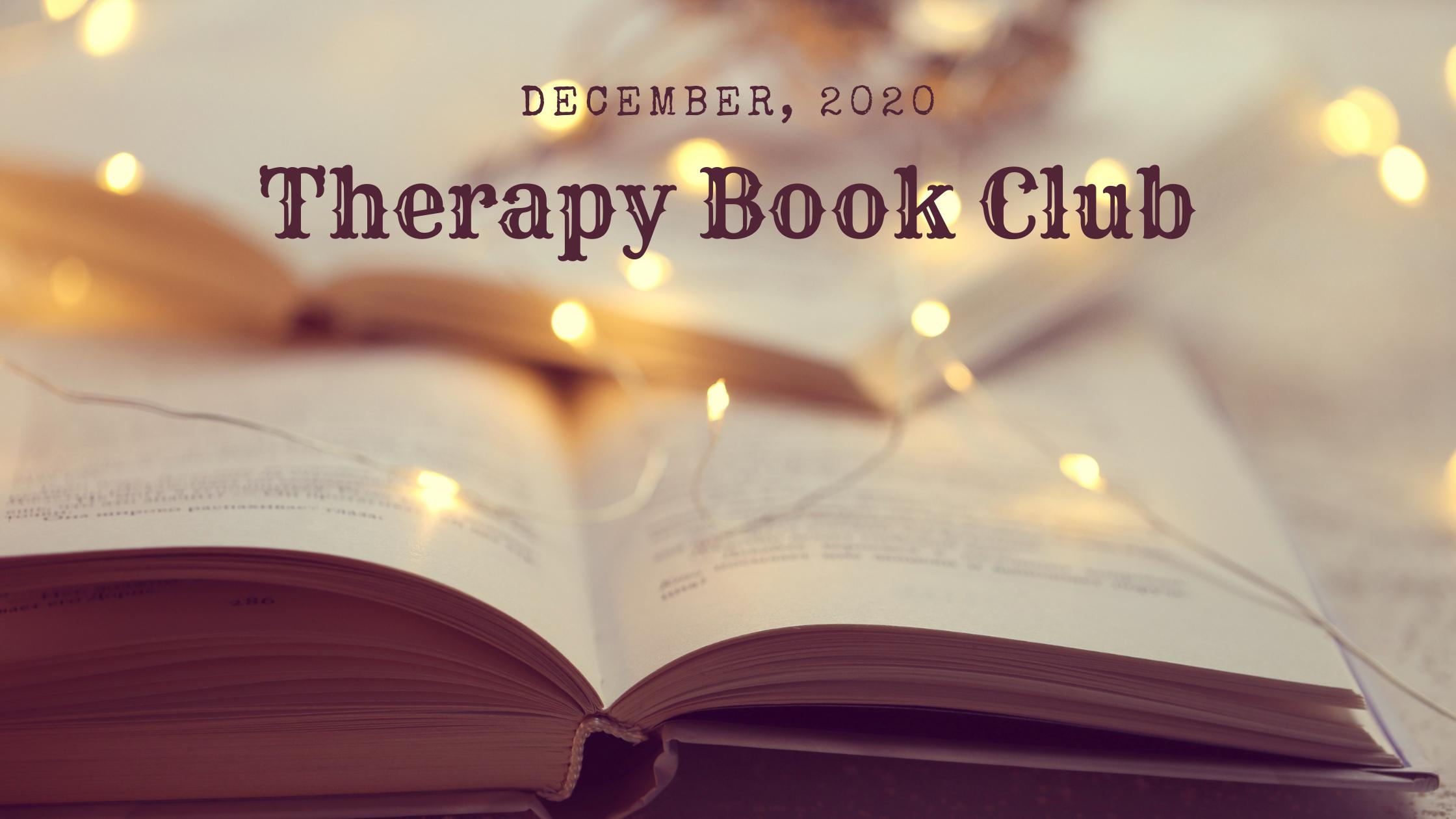December, 2020 Therapist Book Club